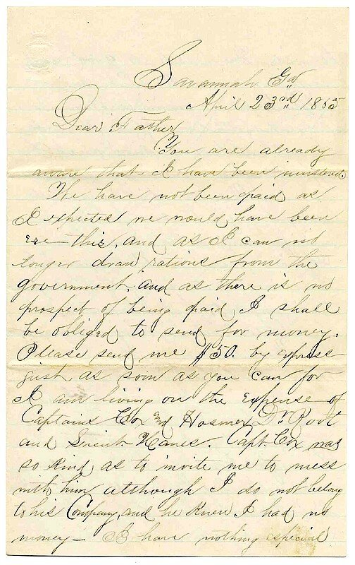 1425: Civil War Soldier Letter Signed 14th Penn ALS