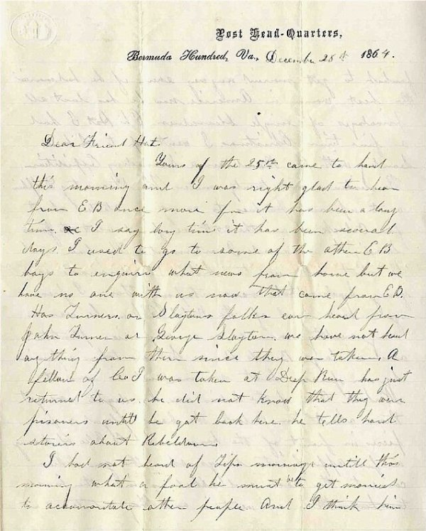1426: Civil War Soldier Letter Signed 24th NH ALS