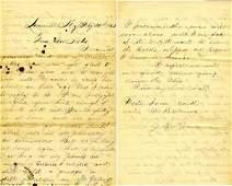 1628: Civil War Soldier Letter Signed ALS Regt KY