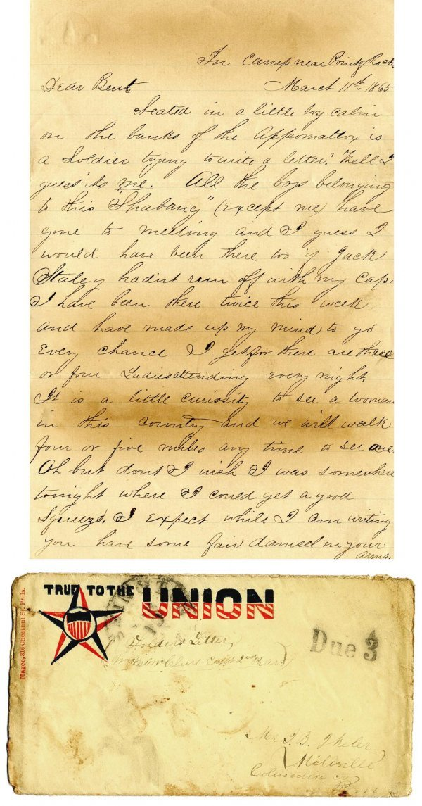 1767: PA Soldier Letter ALS Signed Autograph Civil War