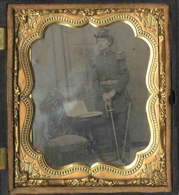 1794: Civil War Tintype Armed Union Soldier Photo