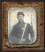 1881: Civil War Ambrotype Union Infantryman Photo
