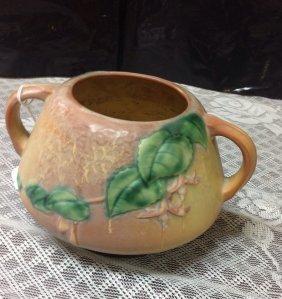 Roseville Fuchsia Two Handled Bowl