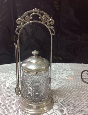 Victorian Silverplate Pickle Castor