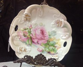 Hand Painted Germany Plate 11''