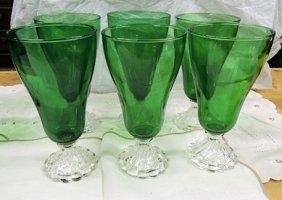 Forest Green Purple Tea Glasses