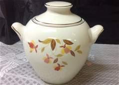 Hall China Autumn Leaf Zeisel Cookie Jar Rare