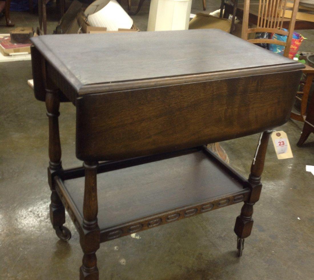 English Oak Tea Cart - 2