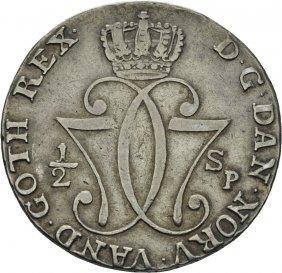 1/2 Speciedaler 1776 Christian Vii, Kv.1+