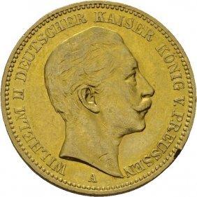 20 Mark 1896, Kaiser Wilhelm Ii Tyskland, Lite Kh.