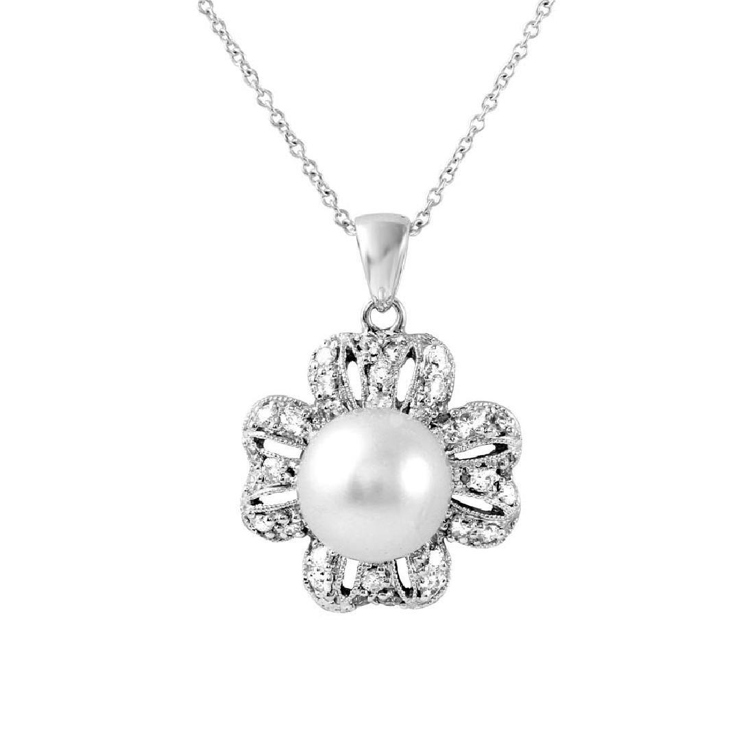 Genuine 5.86 TCW 18K White Gold Ladies Necklace