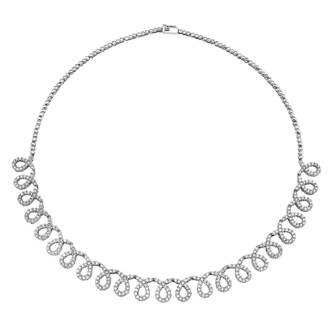 Genuine 5.03 TCW 14K White Gold Ladies Necklace