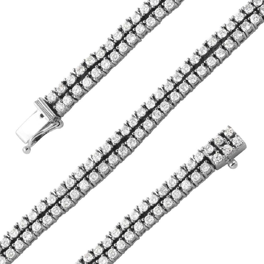 Genuine 3.54 TCW 14K White Gold Ladies Bracelet