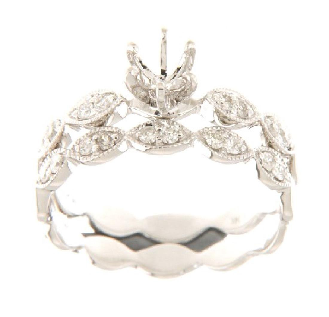 14K White Gold 0.24CTW Ladies Diamond Ring