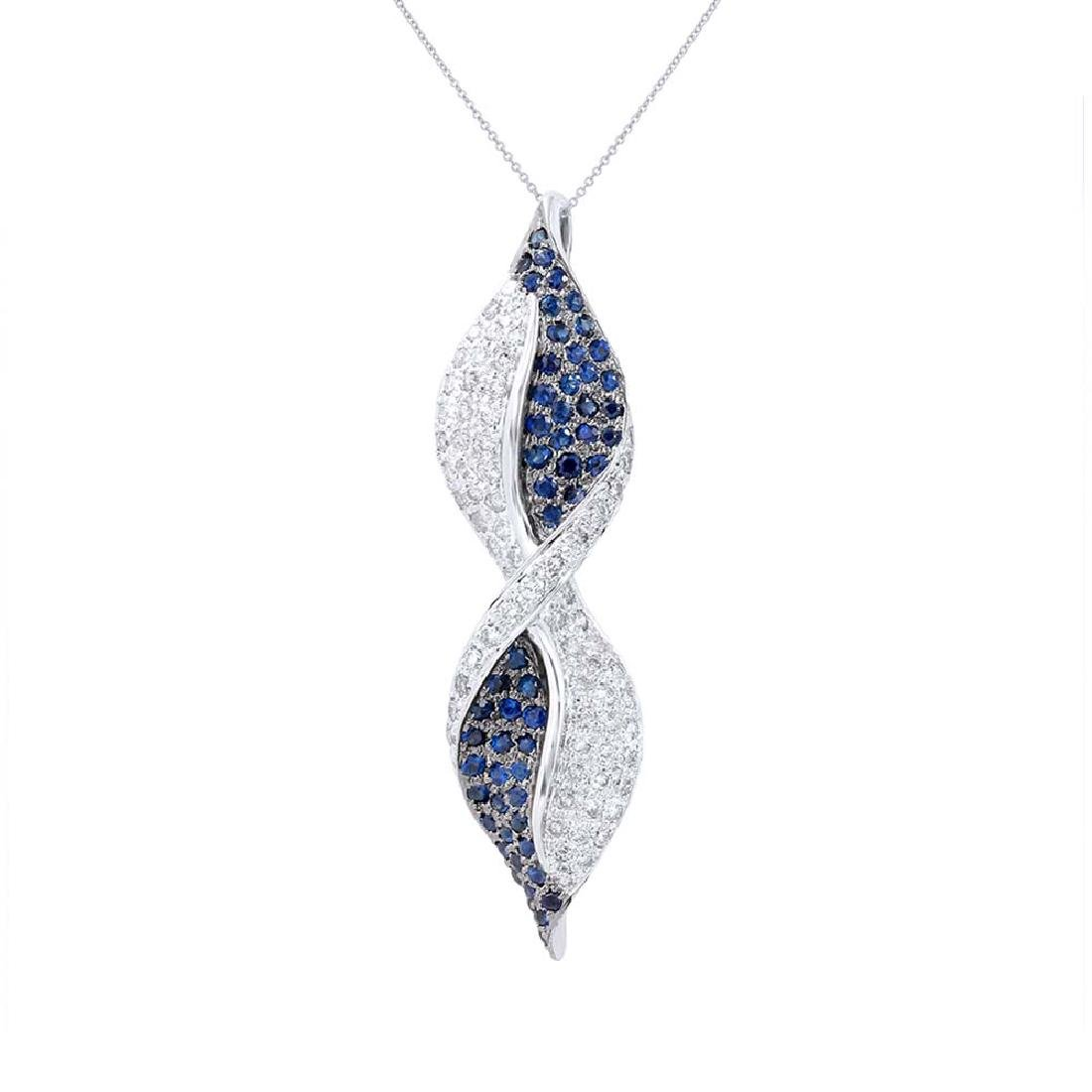 Genuine 2.04 TCW 14K White Gold Ladies Necklace