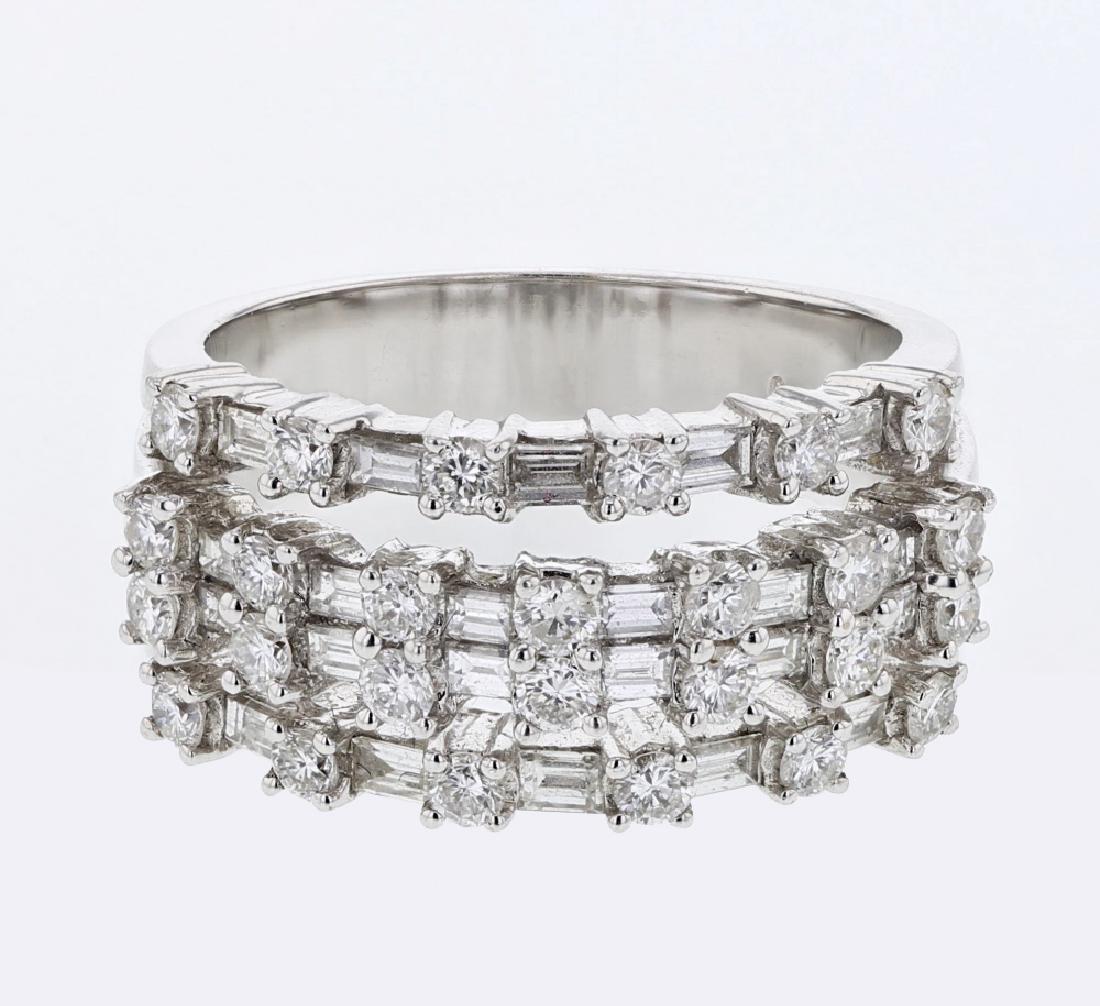 Genuine 1.49 TCW 18K White Gold Ladies Ring