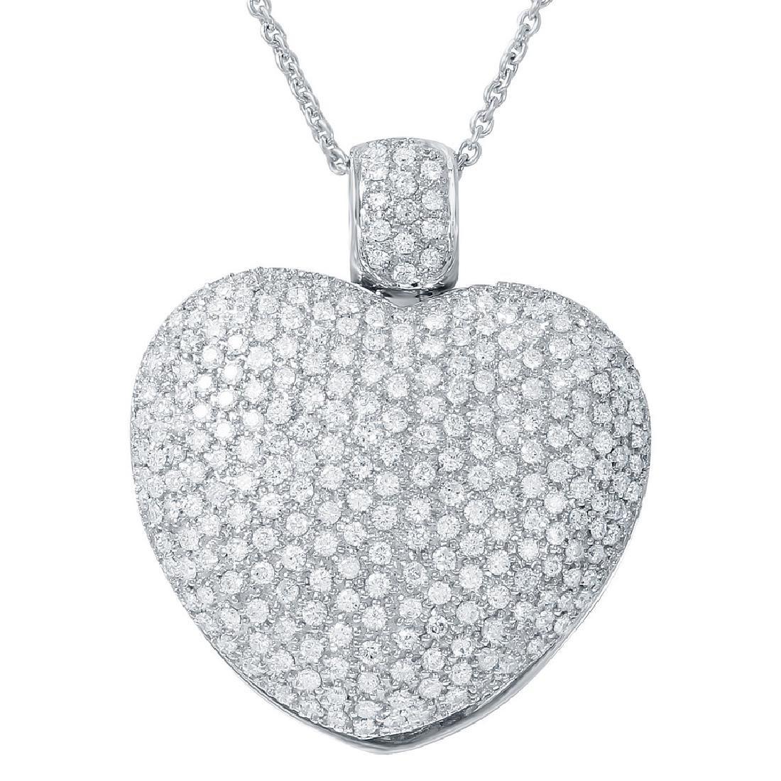 Genuine 5.11 TCW 18K White Gold Ladies Necklace