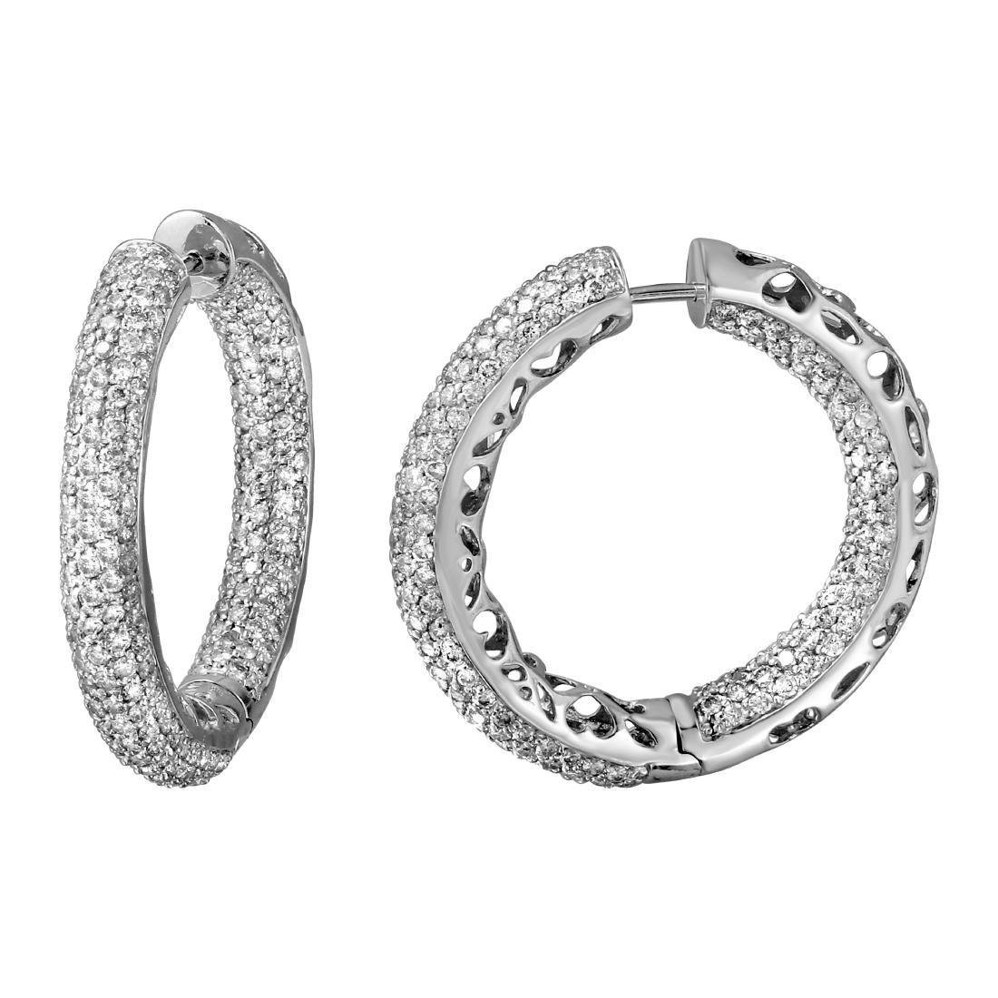 Genuine 5.7 TCW 14K White Gold Ladies Earring