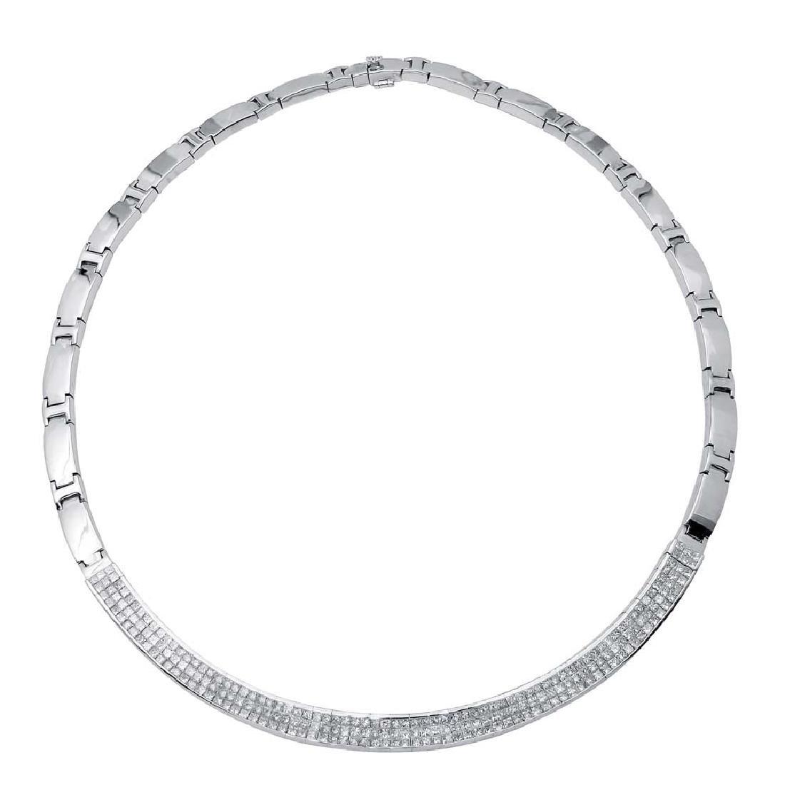 Genuine 7.25 TCW 14K White Gold Ladies Necklace