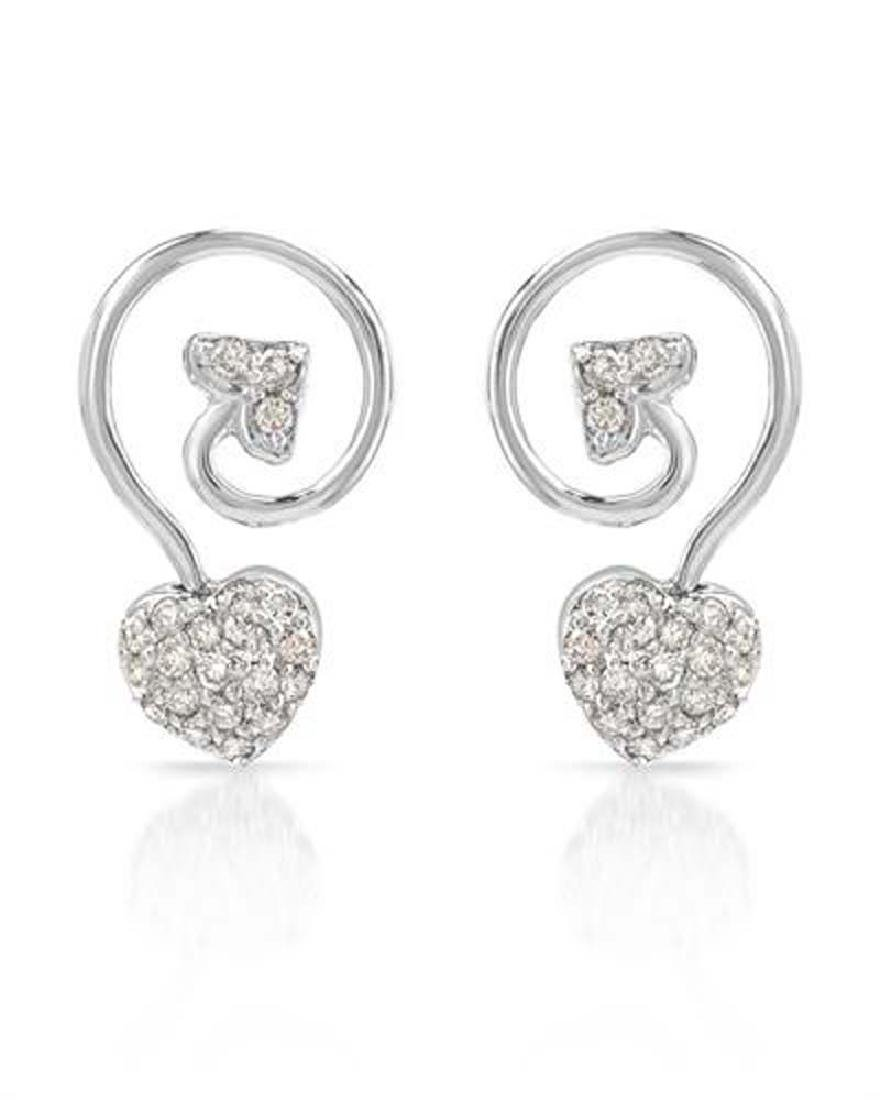 Genuine 0.45 TCW 14K White Gold Ladies Earring