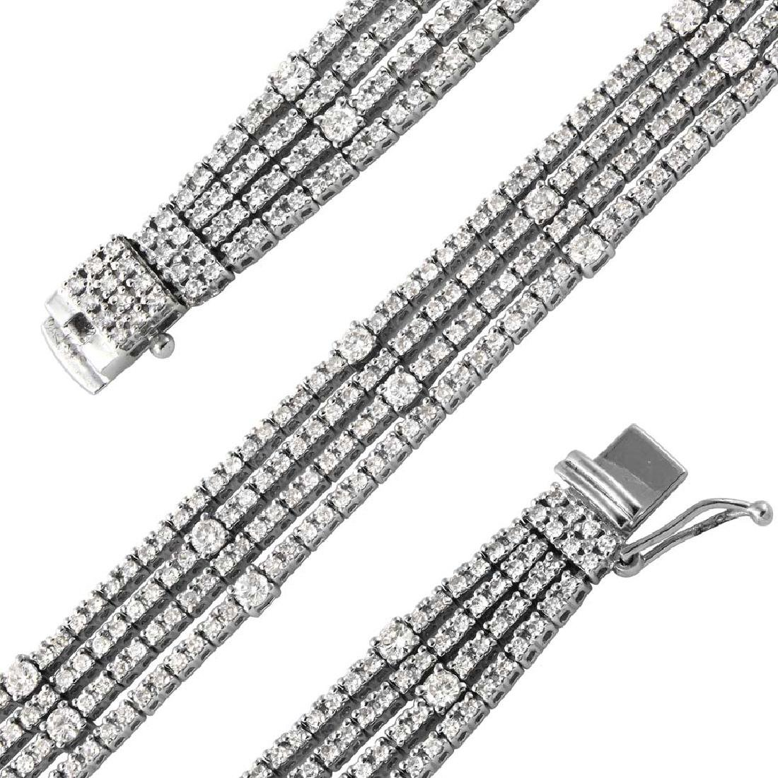 Genuine 4.87 TCW 18K White Gold Ladies Bracelet