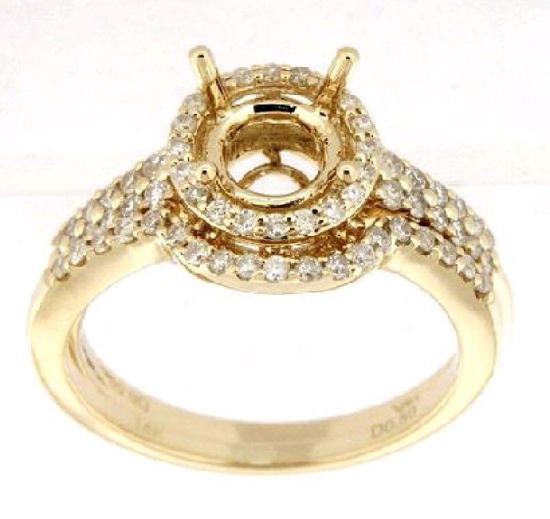 14K Yellow Gold 0.14CTW Ladies Diamond Ring