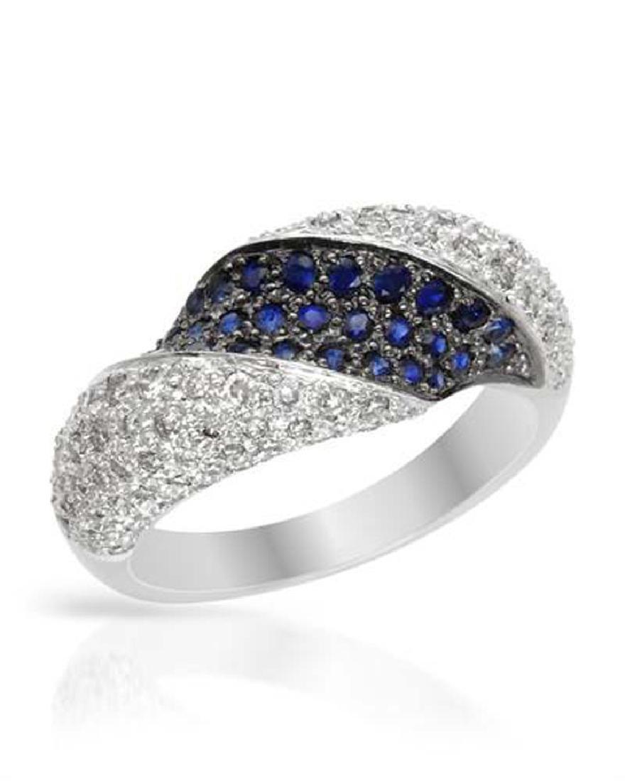 Genuine 1.17 TCW 14K White Gold Ladies Ring