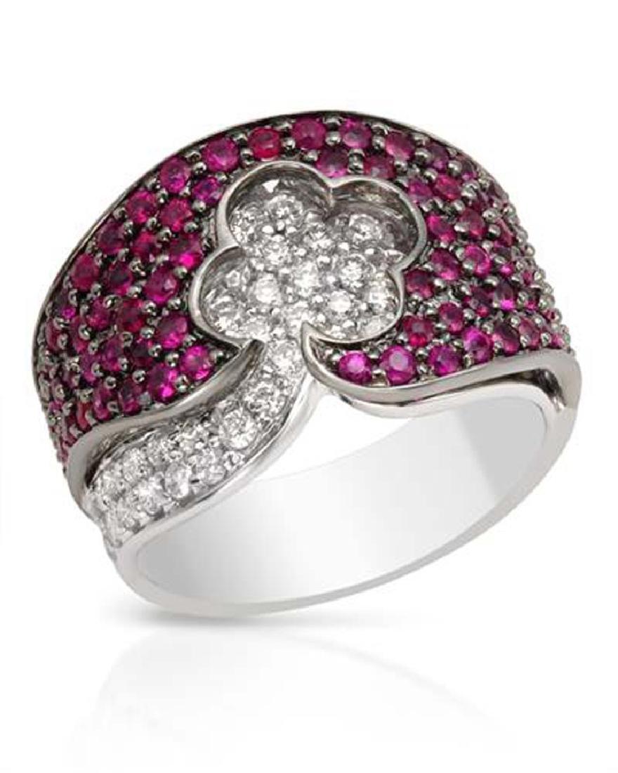 Genuine 2.11 TCW 14K White Gold Ladies Ring