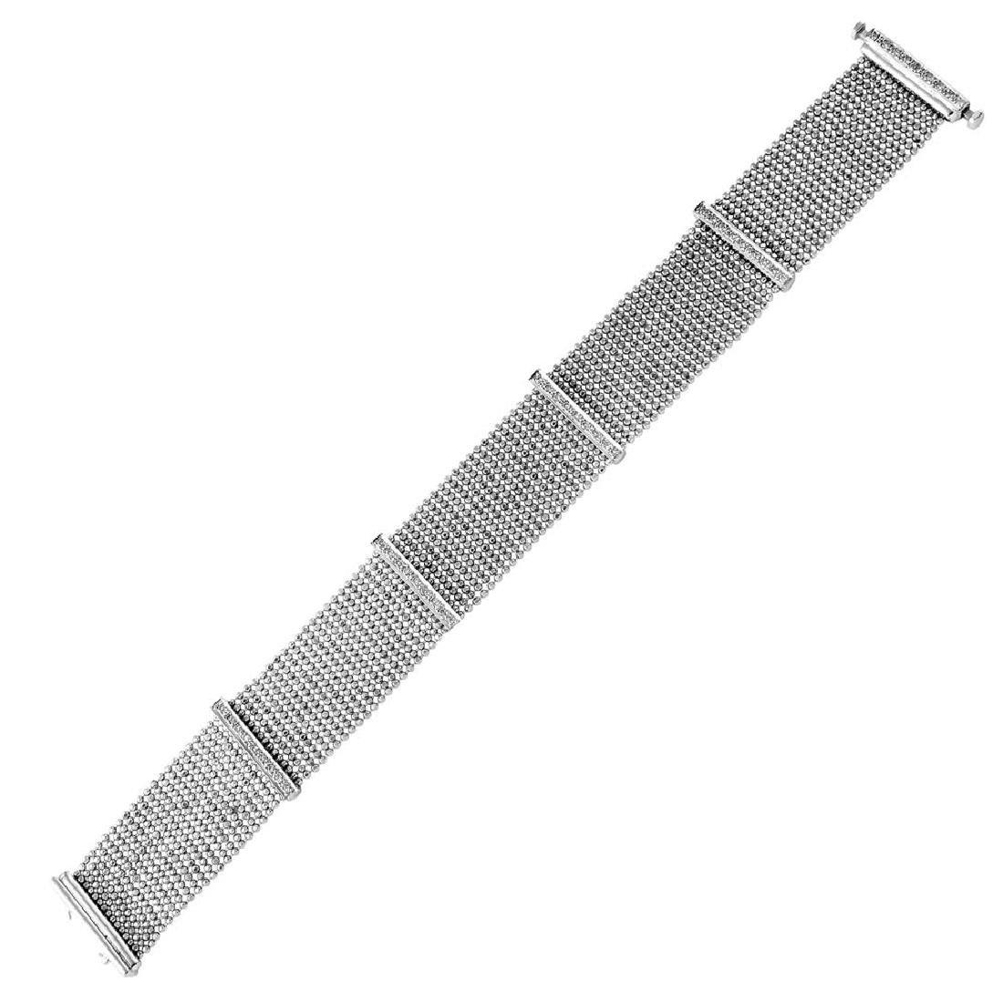 Genuine 0.7 TCW 18K White Gold Ladies Bracelet