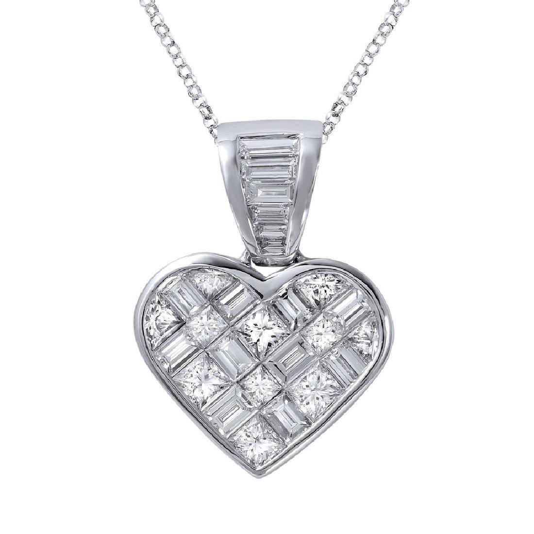 Genuine 5.16 TCW 14K White Gold Ladies Necklace