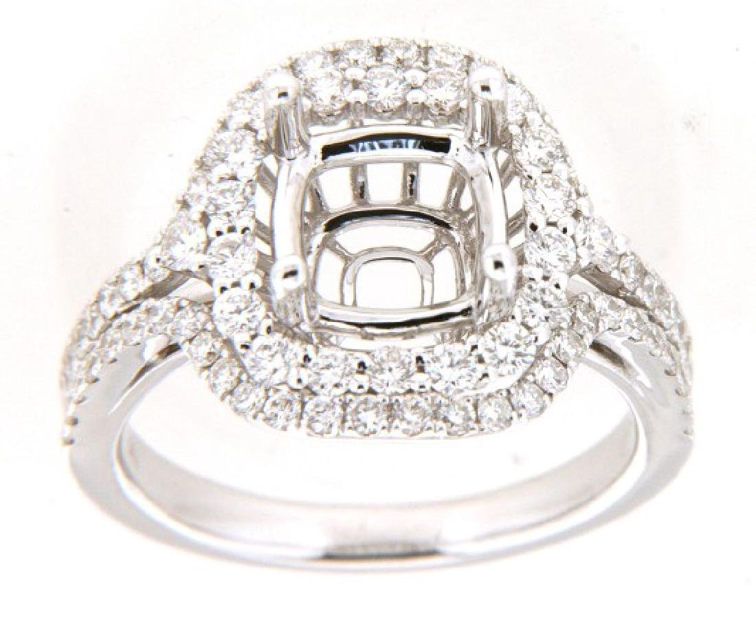 14K White Gold 1.06CTW Ladies Diamond Ring