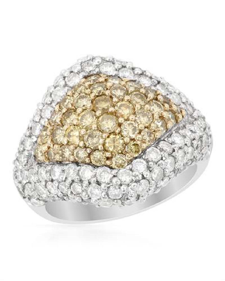 Genuine 3.51 TCW 14K Two Tone Gold Ladies Ring