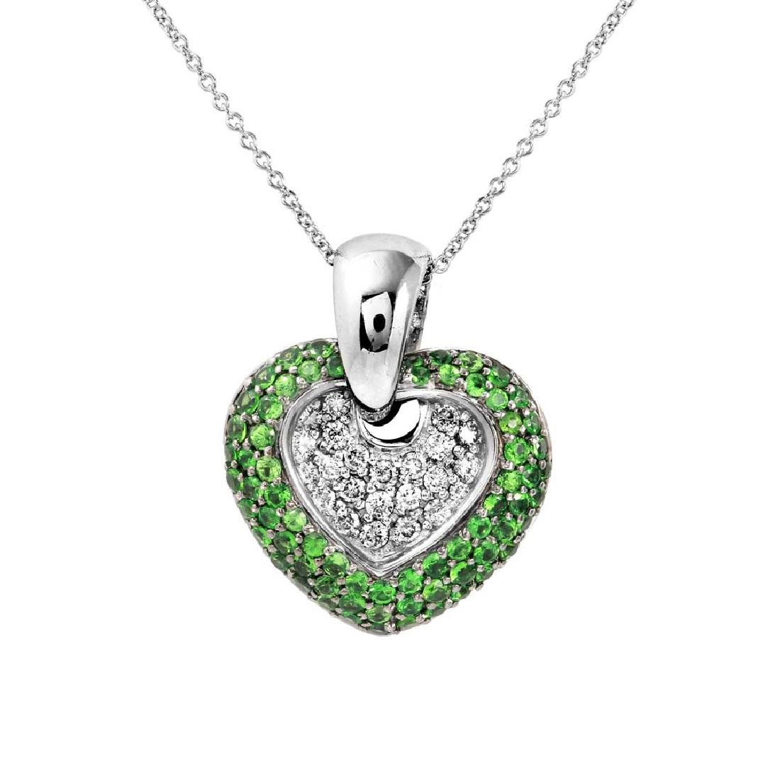 Genuine 1.63 TCW 14K White Gold Ladies Necklace