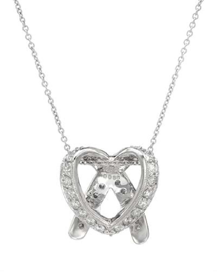 Genuine 0.89 TCW 18K White Gold Ladies Necklace