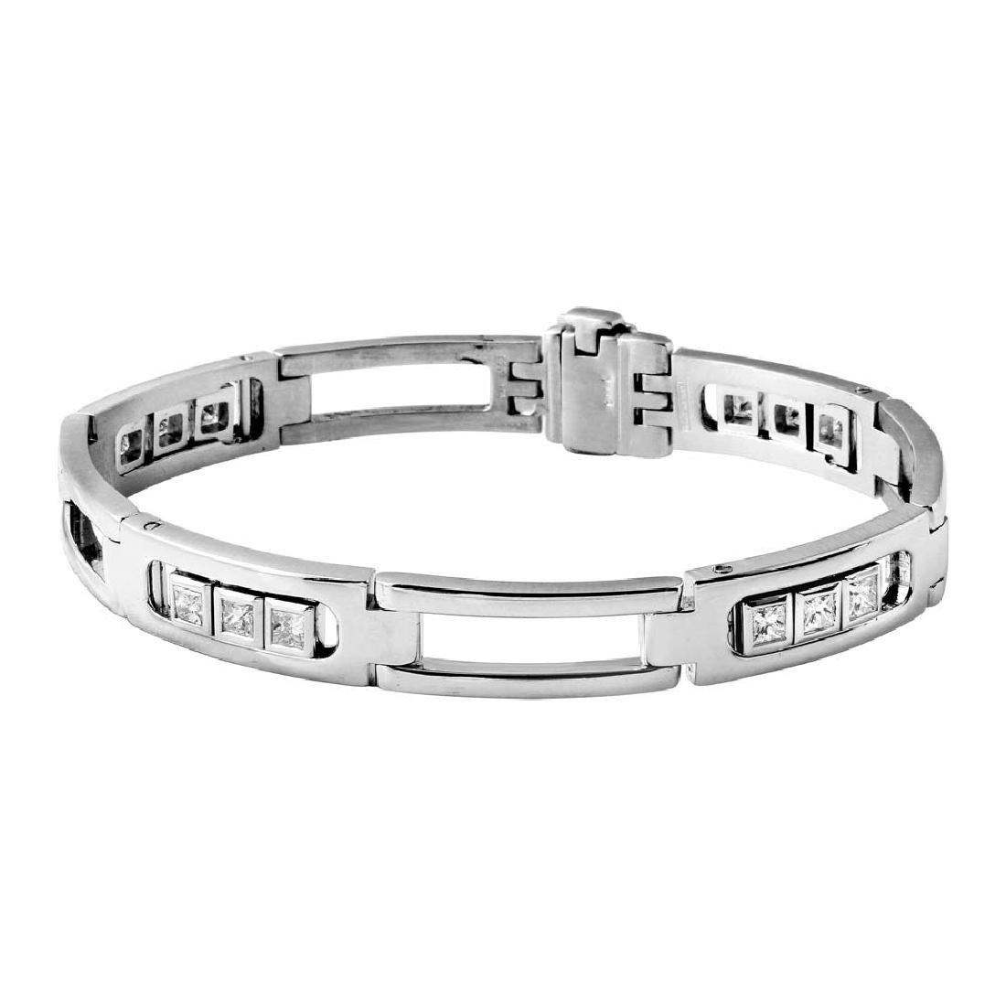 Genuine 1.19 TCW 14K White Gold Ladies Bracelet