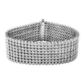 14K White Gold 16.45CTW Diamond Bracelet