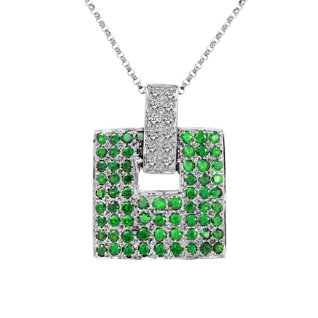 Genuine 2.02 TCW 14K White Gold Ladies Necklace