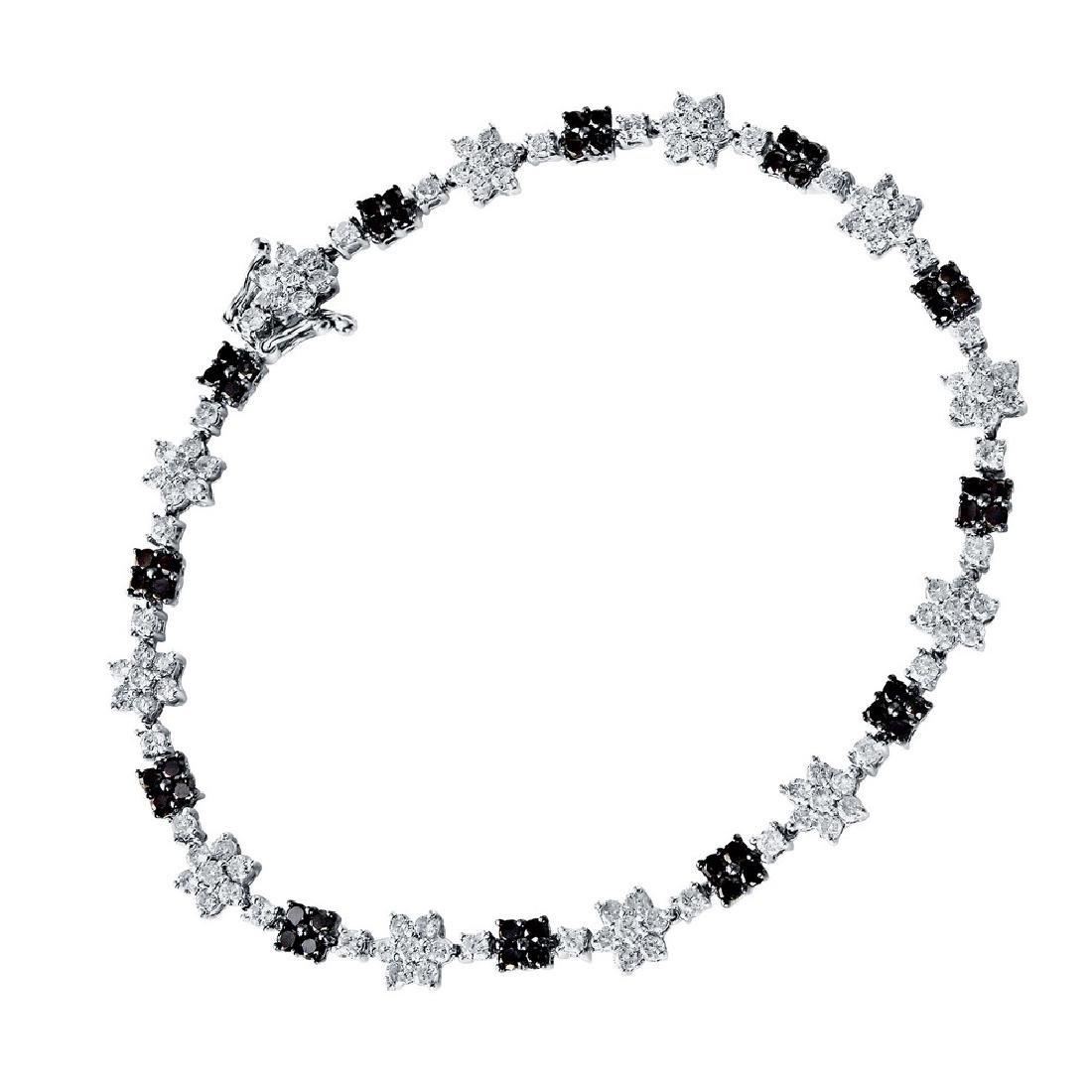 Genuine 4.29 TCW 14K White Gold Ladies Bracelet