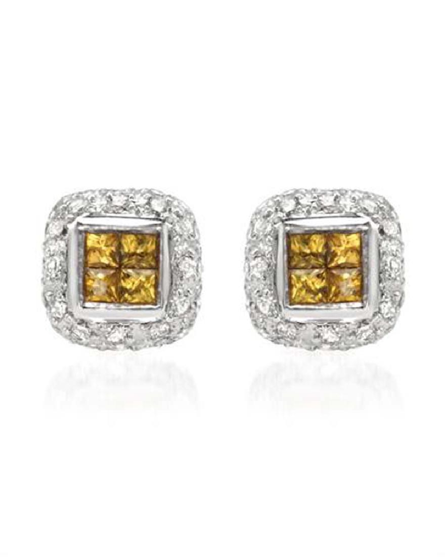 Genuine 0.73 TCW 14K White Gold Ladies Earring