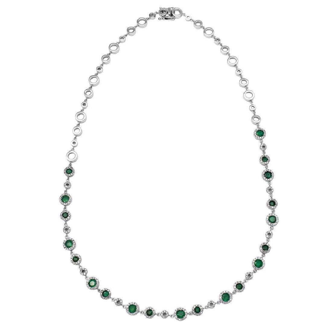 Genuine 1.65 TCW 14K White Gold Ladies Necklace