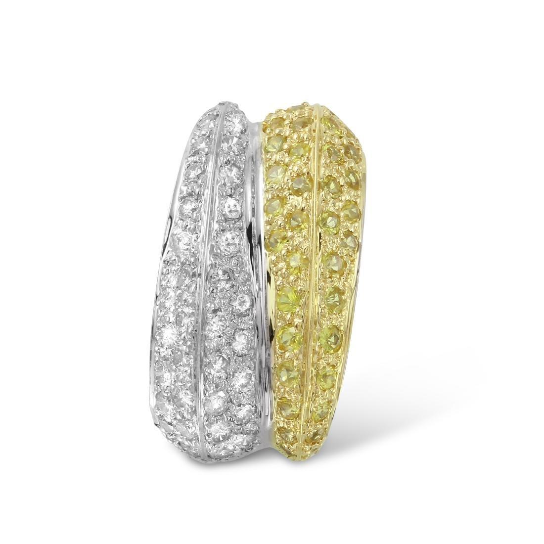 Genuine 0.9 TCW 14K Two Tone Gold Ladies Pendant
