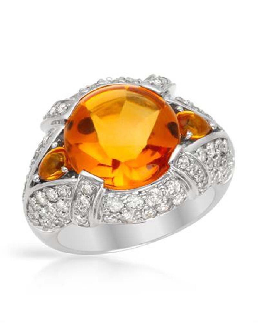 Genuine 8.07 TCW 14K White Gold Ladies Ring