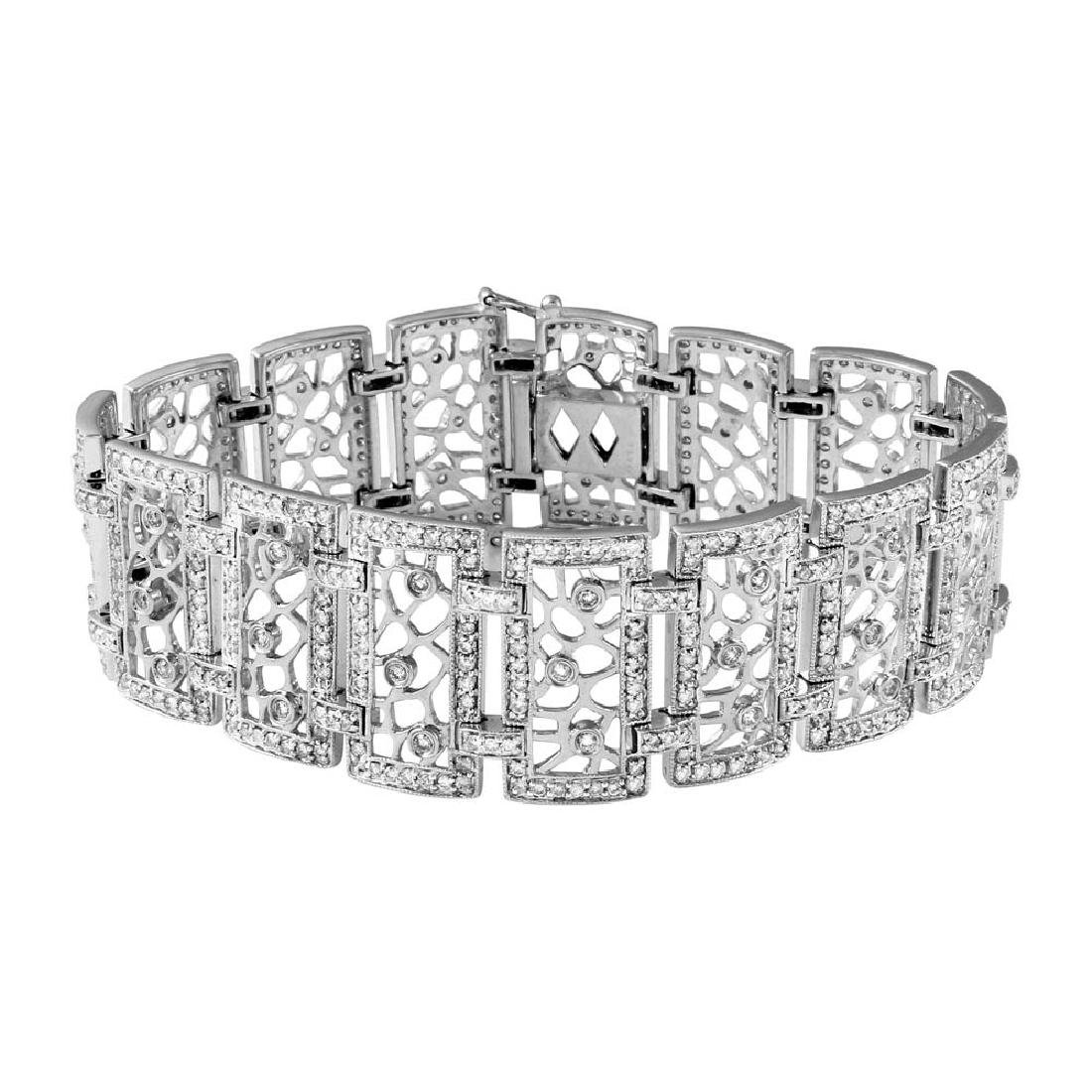 Genuine 4.14 TCW 14K White Gold Ladies Bracelet