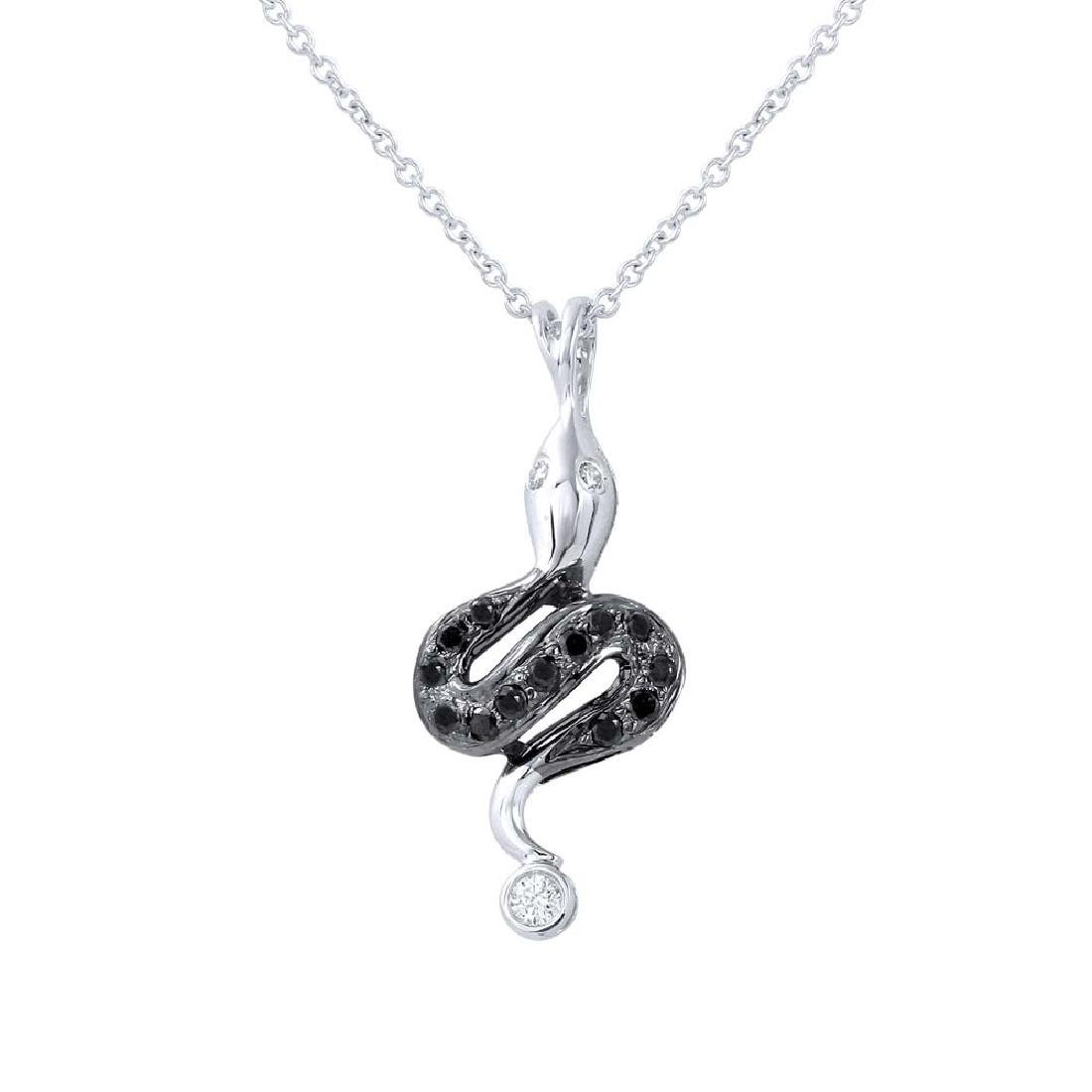 Genuine 0.19 TCW 14K White Gold Ladies Necklace