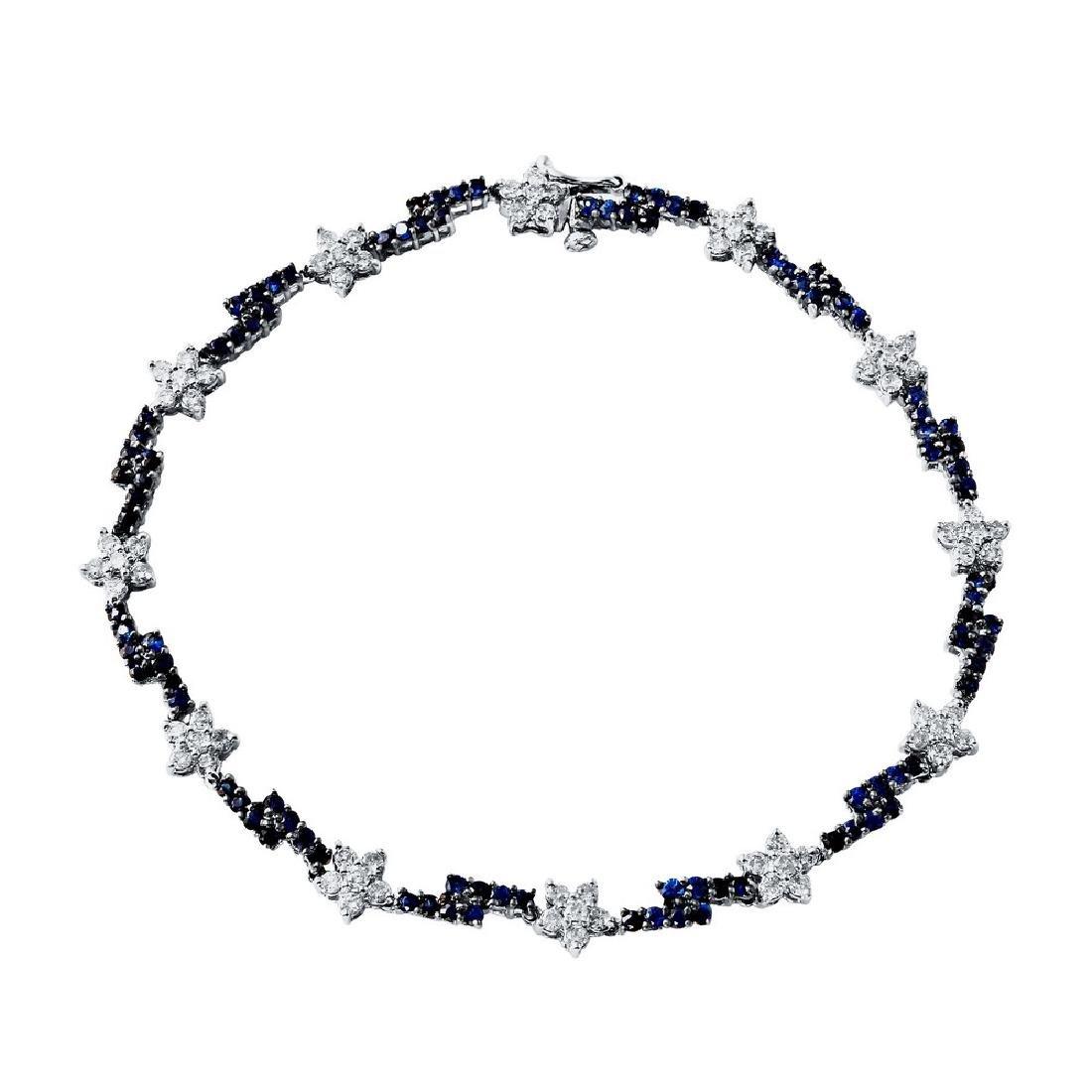 Genuine 2.83 TCW 14K White Gold Ladies Bracelet