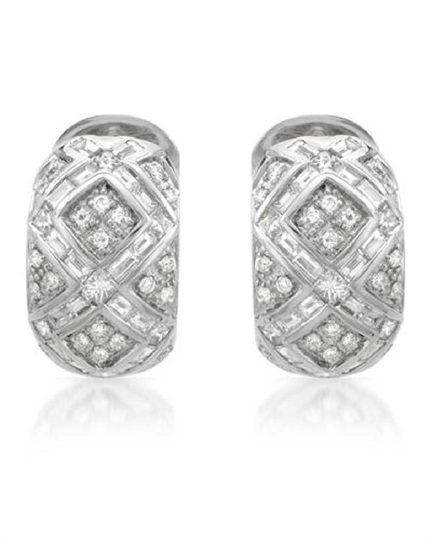 Genuine 2.73 TCW 14K White Gold Ladies Earring