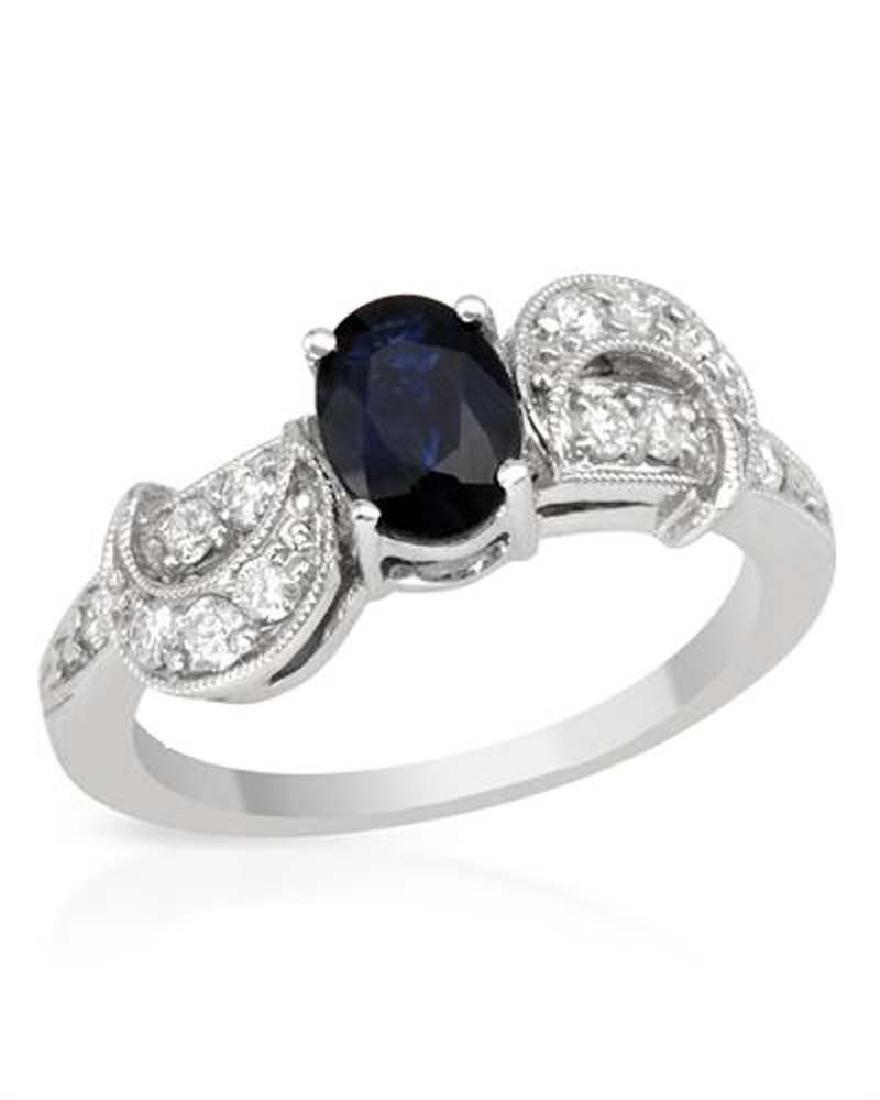 Genuine 1.19 TCW 18K White Gold Ladies Ring