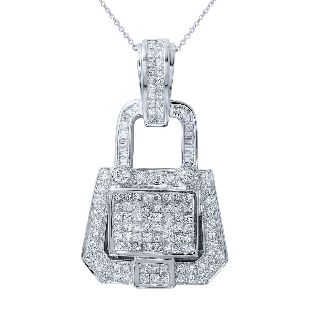 Genuine 2.94 TCW 14K White Gold Ladies Necklace
