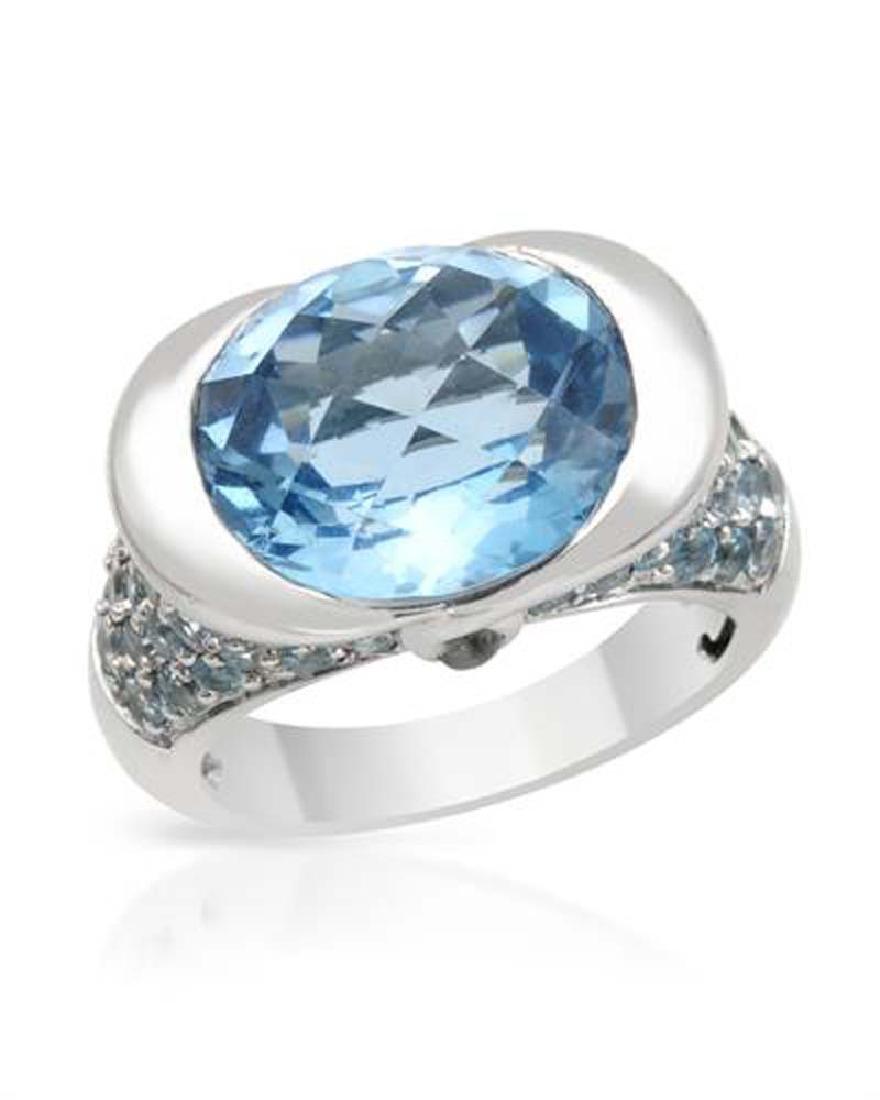 Genuine 11.88 TCW 14K White Gold Ladies Ring