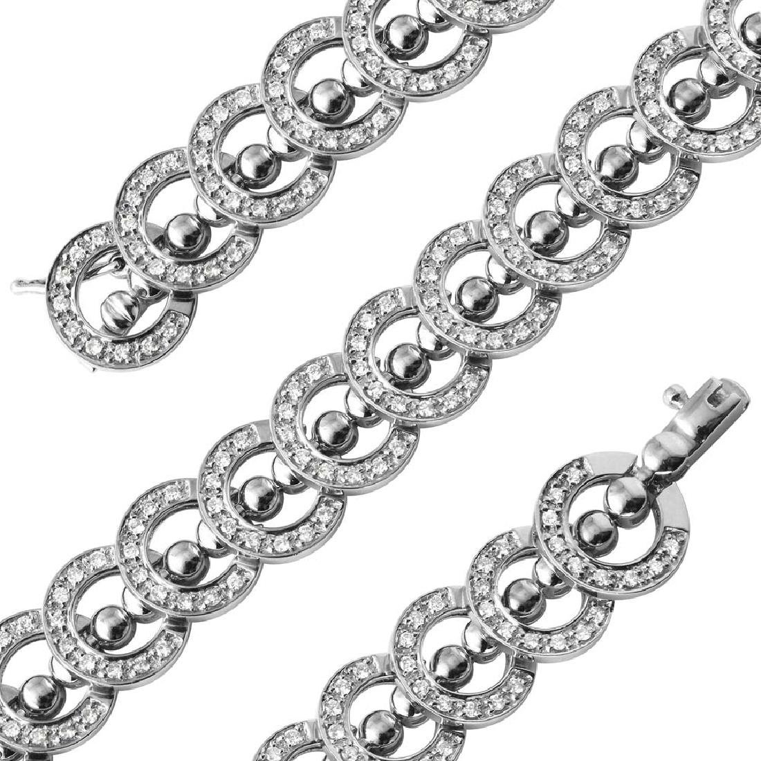 Genuine 1.67 TCW 18K White Gold Ladies Bracelet